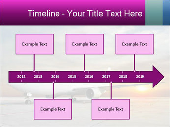 Commercial airplane PowerPoint Templates - Slide 28
