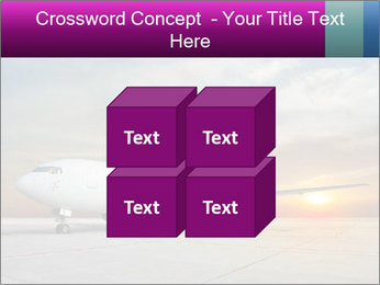 Commercial airplane PowerPoint Template - Slide 39