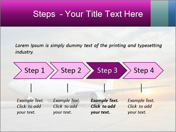 Commercial airplane PowerPoint Template - Slide 4