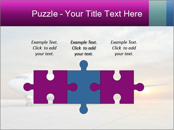 Commercial airplane PowerPoint Template - Slide 42