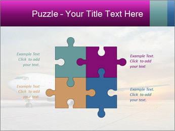Commercial airplane PowerPoint Template - Slide 43