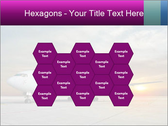 Commercial airplane PowerPoint Template - Slide 44