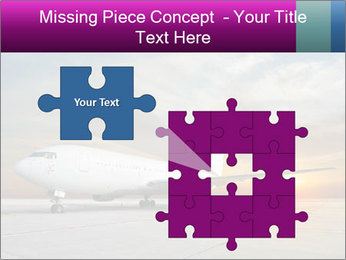 Commercial airplane PowerPoint Template - Slide 45