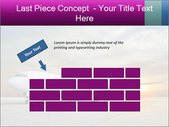 Commercial airplane PowerPoint Template - Slide 46