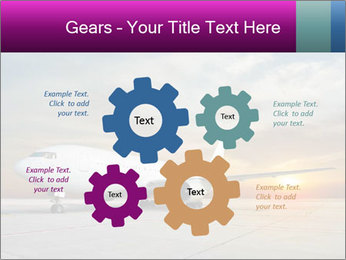 Commercial airplane PowerPoint Template - Slide 47