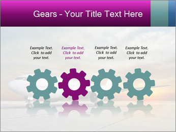 Commercial airplane PowerPoint Template - Slide 48