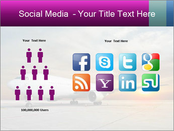 Commercial airplane PowerPoint Template - Slide 5
