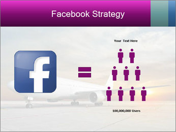 Commercial airplane PowerPoint Templates - Slide 7