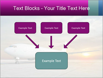 Commercial airplane PowerPoint Template - Slide 70