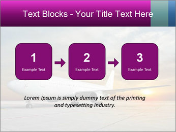 Commercial airplane PowerPoint Template - Slide 71