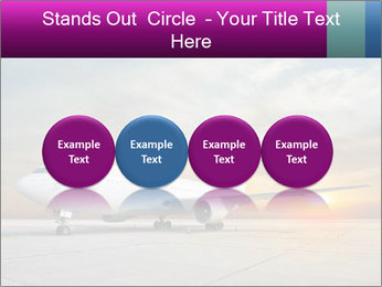 Commercial airplane PowerPoint Templates - Slide 76