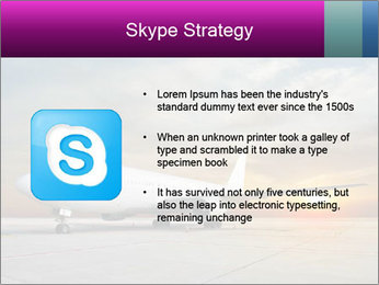 Commercial airplane PowerPoint Template - Slide 8