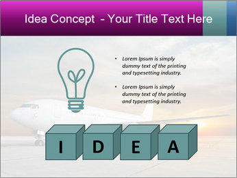 Commercial airplane PowerPoint Template - Slide 80