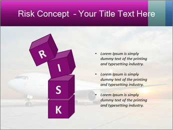 Commercial airplane PowerPoint Template - Slide 81
