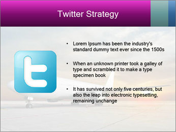 Commercial airplane PowerPoint Templates - Slide 9