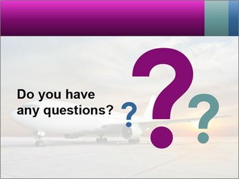 Commercial airplane PowerPoint Template - Slide 96
