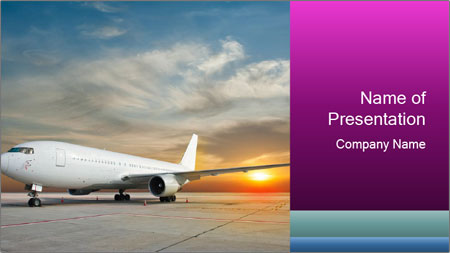 Commercial airplane PowerPoint Template