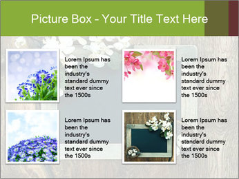 Chalkboard Banner with Flowers PowerPoint Template - Slide 14