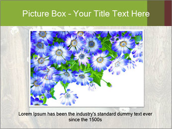 Chalkboard Banner with Flowers PowerPoint Template - Slide 15