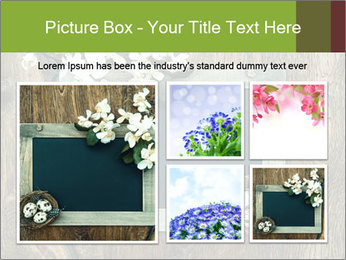 Chalkboard Banner with Flowers PowerPoint Template - Slide 19