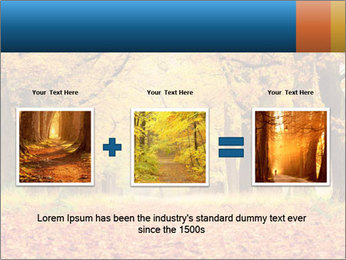 Beautiful autumn forest PowerPoint Template - Slide 22