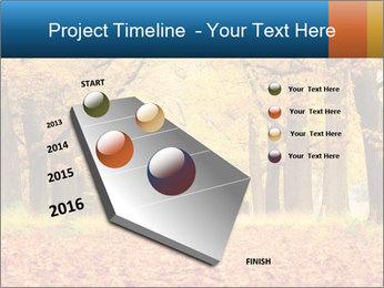 Beautiful autumn forest PowerPoint Template - Slide 26