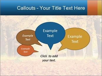 Beautiful autumn forest PowerPoint Template - Slide 73