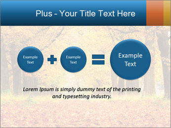 Beautiful autumn forest PowerPoint Template - Slide 75