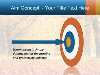 Beautiful autumn forest PowerPoint Template - Slide 83