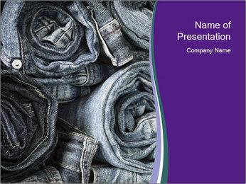 Blue Jeans PowerPoint Templates - Slide 1