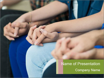 Holding people hands PowerPoint Template - Slide 1