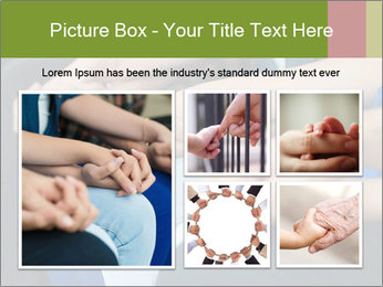 Holding people hands PowerPoint Template - Slide 19