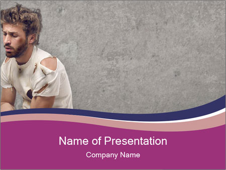 Tramp sitting PowerPoint Templates