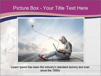 Tramp sitting PowerPoint Template - Slide 16