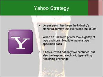 Glass of fresh lager beer PowerPoint Templates - Slide 11