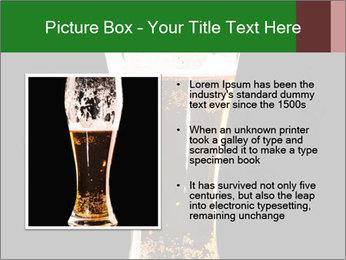 Glass of fresh lager beer PowerPoint Templates - Slide 13