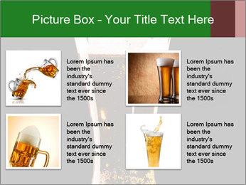 Glass of fresh lager beer PowerPoint Templates - Slide 14