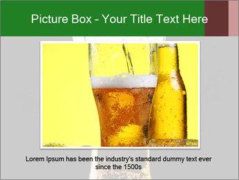 Glass of fresh lager beer PowerPoint Templates - Slide 16