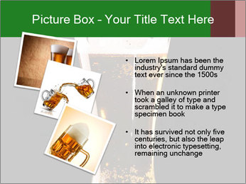 Glass of fresh lager beer PowerPoint Templates - Slide 17