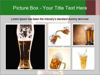 Glass of fresh lager beer PowerPoint Templates - Slide 19