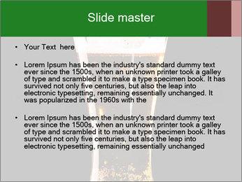 Glass of fresh lager beer PowerPoint Templates - Slide 2