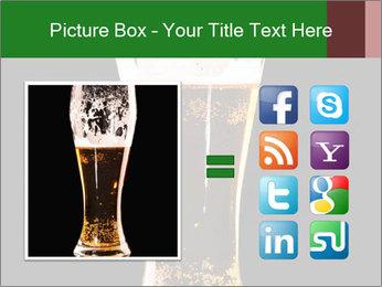 Glass of fresh lager beer PowerPoint Templates - Slide 21
