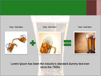 Glass of fresh lager beer PowerPoint Templates - Slide 22