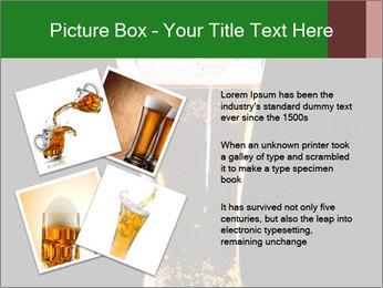 Glass of fresh lager beer PowerPoint Templates - Slide 23