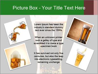 Glass of fresh lager beer PowerPoint Templates - Slide 24
