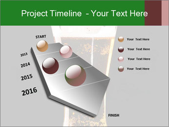 Glass of fresh lager beer PowerPoint Templates - Slide 26