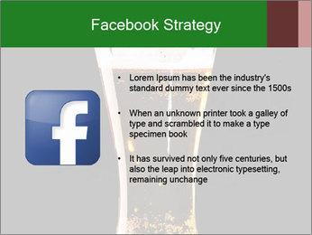 Glass of fresh lager beer PowerPoint Templates - Slide 6