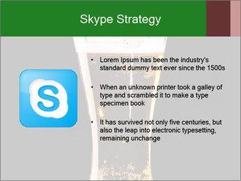 Glass of fresh lager beer PowerPoint Templates - Slide 8