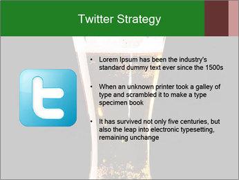 Glass of fresh lager beer PowerPoint Templates - Slide 9
