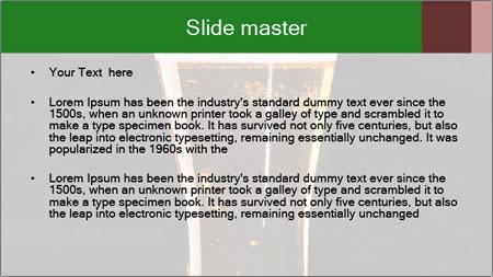 Glass of fresh lager beer PowerPoint Template - Slide 2